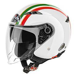 AIROH City One Style bílá/zelená/červená - XS (53-54)