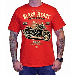 BLACK HEART Harley Red červená - M
