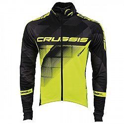 Crussis cyklistická bunda CRUSSIS černá-fluo žlutá - S