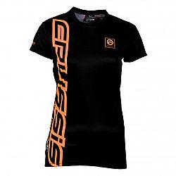 Crussis Dámské triko Crussis - krátký rukáv černo-oranžová - XS