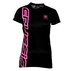 Crussis Dámské triko Crussis - krátký rukáv černo-růžová - XS