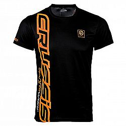 Crussis Pánské triko Crussis - krátký rukáv černo-oranžová - S