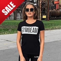 Dámské tričko Box Logo Black White - GymBeam