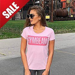 Dámské tričko Box Logo Light Pink Pink - GymBeam