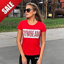 Dámské tričko Box Logo Red White - GymBeam