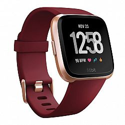 Fitbit Versa Merlot Band/Rose Gold Case