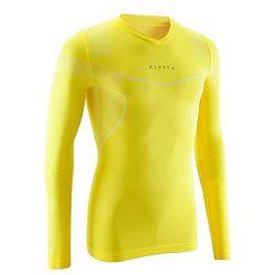 Kipsta Spodní Tričko Keepdry500 Žluté