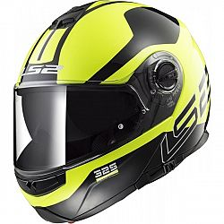 LS2 FF325 Strobe Zone Hi-Vis Yellow Black XXS (51-52)