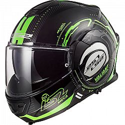 LS2 FF399 Valiant Graphic Nucleus Black Glow Green - XS (53-54)