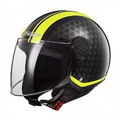 LS2 OF558 Sphere Lux Crush Black H-V Yellow - XS (53-54)