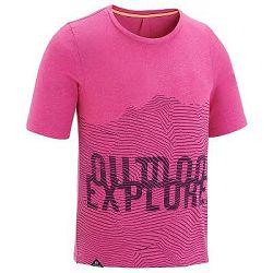 Quechua Dívčí Tričko MH 100 Růžové