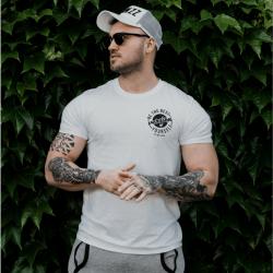Tričko The Best Version White Black - GymBeam